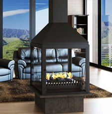 Universal Grate Double Sided Fireplace VFDG 800